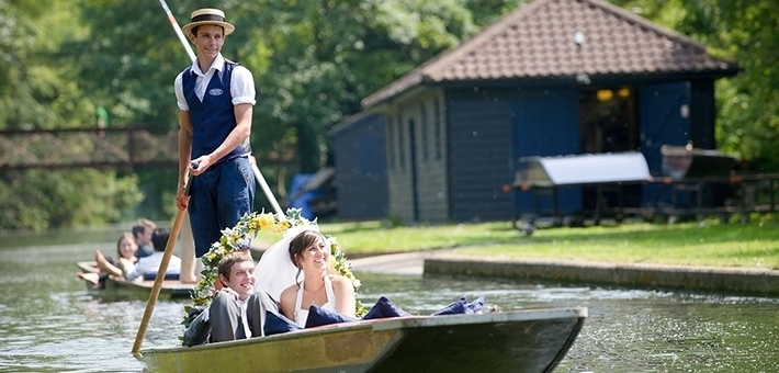 Romantic Wedding Punting