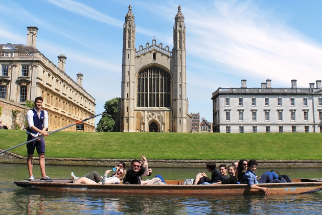 King's College Chapel from a punt, Cambridge